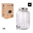mayorista Calefacción y sanitarios: tarro dispensador con grifo 8lvidrio mediterran