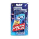 mayorista Salud y Cosmetica: conjunto de 5 maq. afeitar laser easy 3