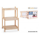 wholesale furniture: wood shelf 3niv355x24x56cm confortime