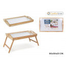 foldable wooden table 50x30x23cm confortime