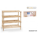 wholesale Small Furniture: shoemaker wood 4 floors 63x26x67cm confortime