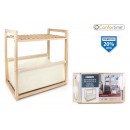 wood shelving with fabric 355x22x39 confortime