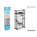 metal shoe rack 21 pair 55.5x25x95cm confortime