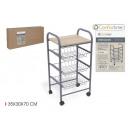 dark greengrocer cart 35x30x70cm confortime