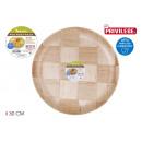 assiette bouleau naturel 30cm privilège