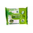 mayorista Salud y Cosmetica: toallita wc bio 15 unds natural care