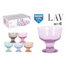 set of 6 ice cream cup 280ccm cpastel