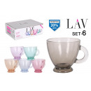 wholesale Other: set of 6 cups with handle 225ccm capuccino c
