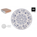set of 6 dinner plates 26cm blur monaco brill