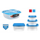 set of 3 square lunch boxes 500 + 1000 + 1