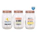 Großhandel Spardosen: Glas Sparschwein mit Deckel 1calca 102x102x17cm pi