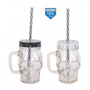 mug with lid and straw 350ccm skull
