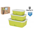 set of 3 bamboolegno percutti fiber lunch box