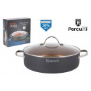 28cm low saucepan with lid percutti doro ros
