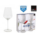 set of 2 wine glass 38cl carre