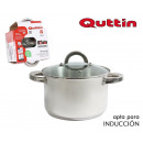 wholesale Household & Kitchen: steel pot ind 16cm / 2.5l / 0.8mm + lid quttin ca