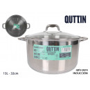 induction steel pot 32cm /15l/0.8mm + with t new