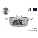 wholesale Household & Kitchen: pan + steel lid ind24cm / 0.8mm / 4l quttinho