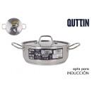 casserole + couvercle en acier à induction 24cm /0