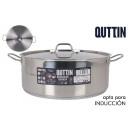 casserole + robinet induction acier 36cm /0.8mm/14