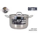 pot + robinet induction 24cm /0.8mm/6.5l quttin