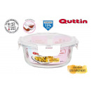 round lunch box with airtight acrylic lid 18.5