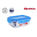 rectangular lunch box with airtight lid new blue