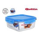 lunch box quadratico con coperchio ermetico new bl