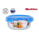 red lunch box. with airtight lid new blue 20.6cm
