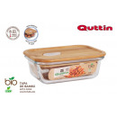 wholesale Lunchboxes & Water Bottles: rectangular lunch box borosilic. bamboo lid 14.5x1