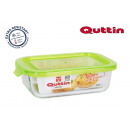 wholesale Household & Kitchen: Rectangular lunch box with green lid 175x13cm qutt