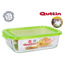 lunch box rectangulaire / couvercle vert 23x175cm