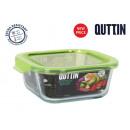wholesale Household & Kitchen: quadratic lunchbox with green lid16x16cm quttin