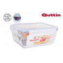 Rectangular lunch box with herm lid 26x22cm quttin