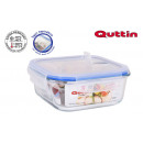 quadratic lunchbox with airtight lid18.5x18.5cm