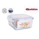 Square lunch box with lid herm 20x20cm quttin