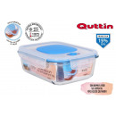 rectangular lunch box with empty lid 20.5x15.3cm q