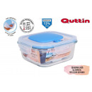 square lunch box with lid empty16x16cm quttin