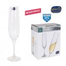 groothandel Food producten: set van 6 glazen champagne glas van bohemen 220ccm