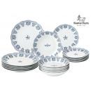 18 pieces round tableware portofino santa Clara