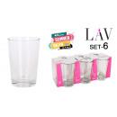 wholesale Drinking Glasses: set of 6 water glasses 205ccm lara