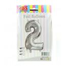 2. 16 hüvelykes fólia ballon ezüst száma -2-
