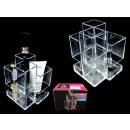 Acrylic toolbox, organizer for cosmetics 12x9x9 cm