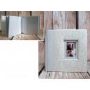 Photo album 15x10 cm cream with frame (for 100
