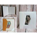 Elegante album fotografico in ecopelle con cornice