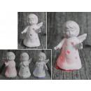 Kerámia angyal világító led 8x4 cm - 1 darab