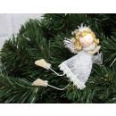 wholesale Figures & Sculptures: Decorative white-silver angel 11 cm
