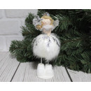 wholesale Figures & Sculptures: Decorative white and silver angel with a feather