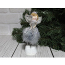wholesale Figures & Sculptures: Gray decorative angel with feathers 16 cm
