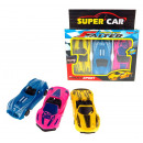Mini cars 6 cm - a set of 3 pieces in the fascia o
